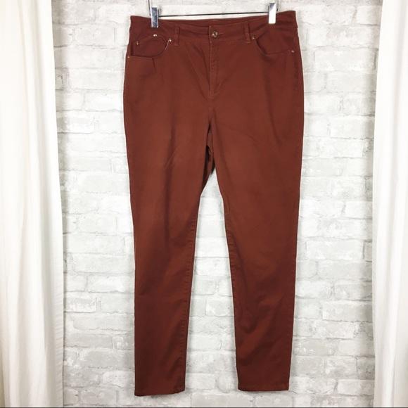 db5338a4d95573 Chico's Pants | Chicos Platinum Jeggings In Burnt Orange 2 | Poshmark